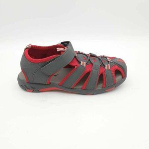 Jelly Beans Girls Jacob Sport Sandals Gray Red NEW